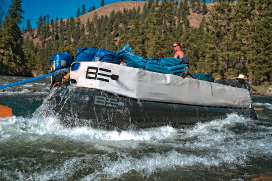 Salmon, Айдахо: Sweep Boat on the Middle Fork!