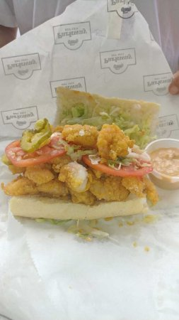 Parkway Bakery & Tavern: This is 1/2 of a Shrimp Po Boy