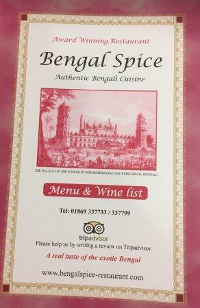 Deddington, UK: Bengal Spice