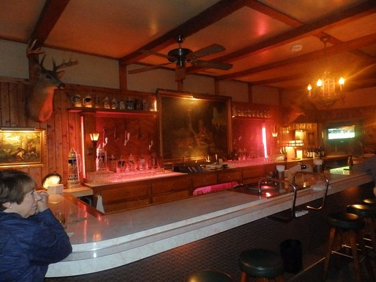 Rhinelander, WI: Bar outdoor and German decore