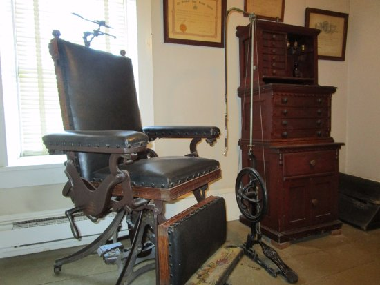 Shelburne, VT: Old Dentist Chair with Foot-Pedal Drill