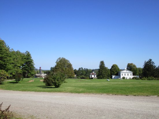 Shelburne, VT: Overview Showing the Ship, Lighthouse, and Webb House