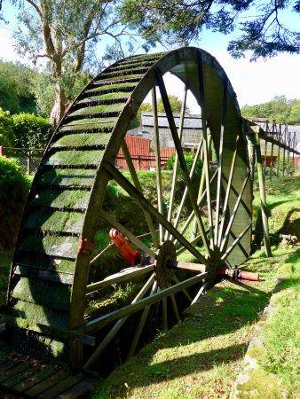 St Austell, UK: A working wheal on the museum site