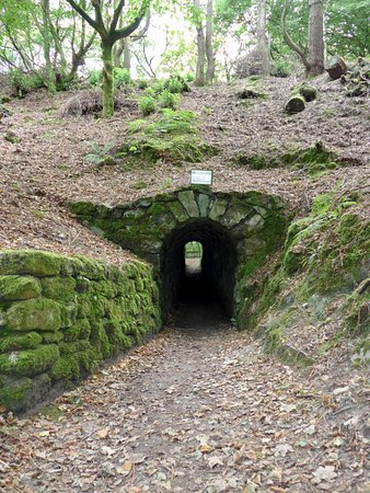 St Austell, UK: The tunnel leading to the quarry view