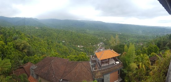Puri Alam Bali Bungalows: View from the restaurant overlooking rooms and valley
