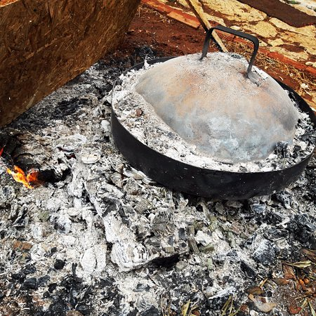 """The traditional way to cook with woods.. This is the """"gastra"""".."""