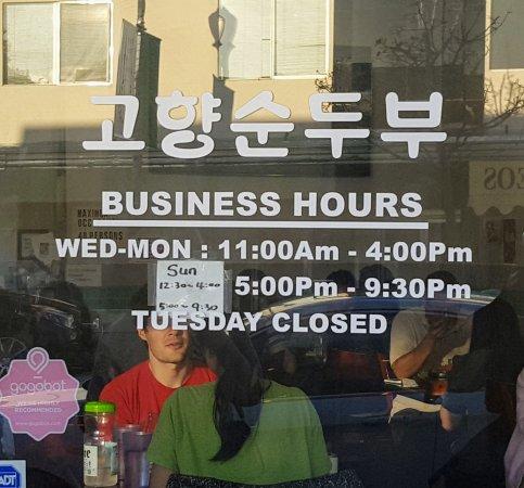 San Bruno, CA: Restaurant hours