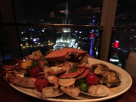 Park Hyatt Shanghai: The shellfish platter at 100 Century Avenue Restaurant