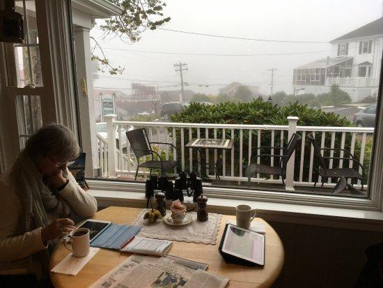 Greenleaf Inn at Boothbay Harbor: With fog