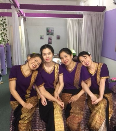 The Studio Traditional Thai Massage: From left - Fiona, Rayya, Thida and Julie, the best Thai therapists in Rotorua and the Bay Area.