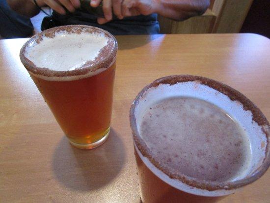 Scott's by Dam: Pumpkin beer with cinnamon sugar on the rim. Scott's recommendation!