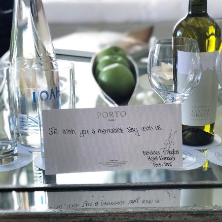 Porto Sani: A lovely welcome note!