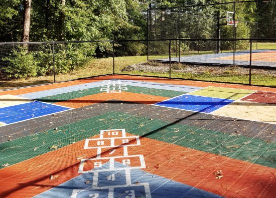 Ashland, VA: Children's 4-Square and Hopscotch Area