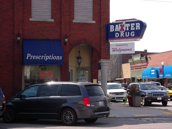 Baxter Springs, Κάνσας: The original Baxster Springs KS drug store. Across the street from the Visitor Center.