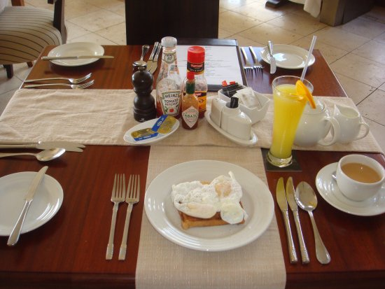 Sun Africa Beach Resort Breakfast table setting & Breakfast table setting - Picture of Sun Africa Beach Resort ...