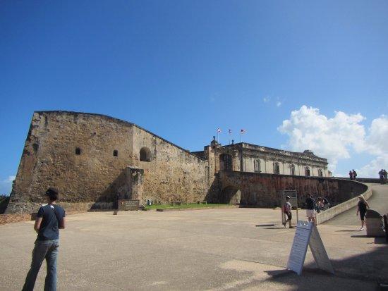 Outside Castillo de San Cristobal