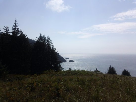 Otis, OR: Looking towards Cascade Head and the ocean