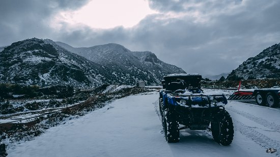 Cotopaxi, CO: First time driving an ATV in the snow, SO FUN