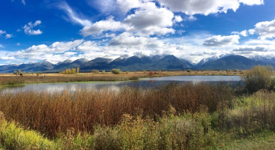 Charlo, MT: View from the trail behind the museum