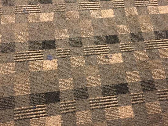 Blue Ash, OH: Gum on the floor.
