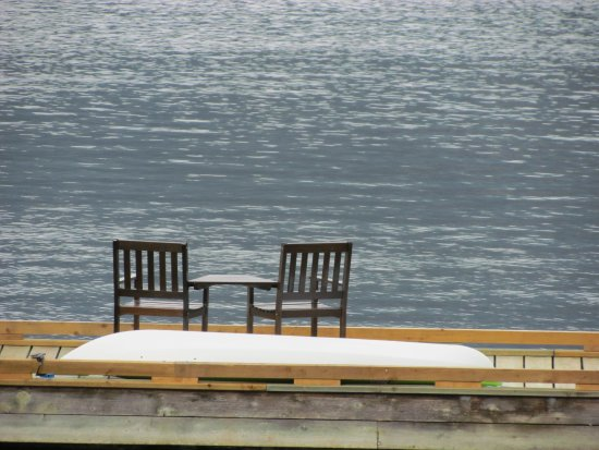 Sechelt, Canada: Our sitting area on the dock