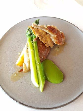 ARIA Restaurant: Jurassic quail, asparagus, witlof, wattle seed
