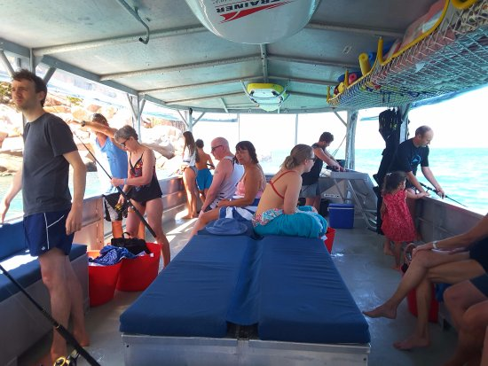 Magnetic Island, Australia: A contented group delighted with the soft adventure of the day