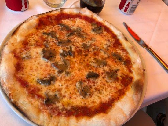 Ristorante Pizzeria Vulnetia : Mushroom pizza