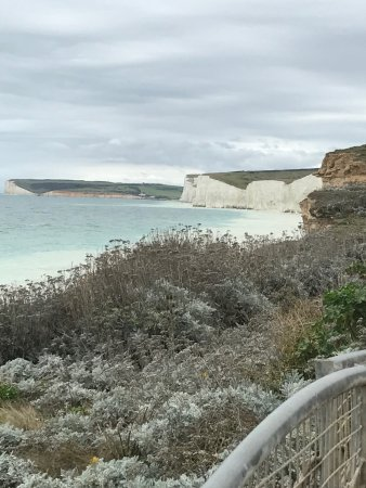 Birling Gap, UK: View from cafe verandah