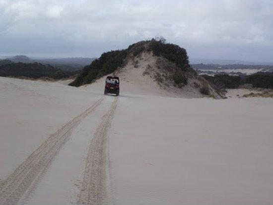 Strahan, Austrália: ATV dune travels to sunset