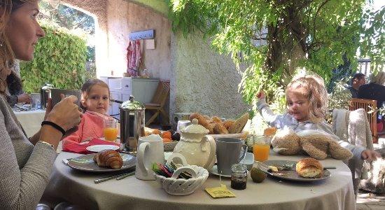Le Mas des Tourterelles : Lovely French breakfast under the vines