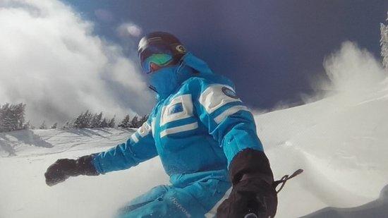 Hauteluce, Prancis: Snowboard