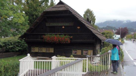 Seeboden, Austria: Halász múzeum, csodálatos régi gerendaház, eredeti állapotban