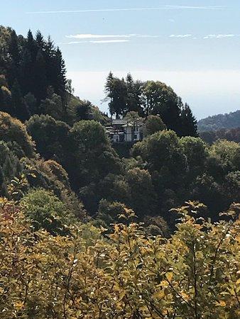 Faggeto Lario, İtalya: Rifugio Riella con vista!