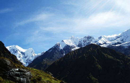 Bagmati Zone, เนปาล: Himalayan view from Annapurna Base Camp Trek