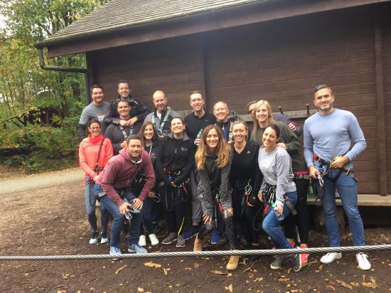 Go Ape Bedgebury: Harnessed and trained and ready to go!