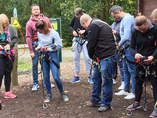 Go Ape Bedgebury: Harness training
