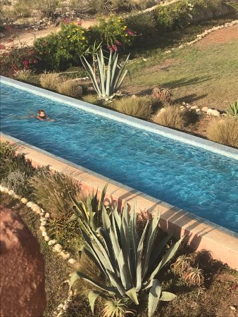 "Ghazoua, Fas: View of the ""swimming pool"" from our balcony"