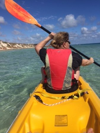 Ningaloo Kayak Adventures: My sis on the kayak