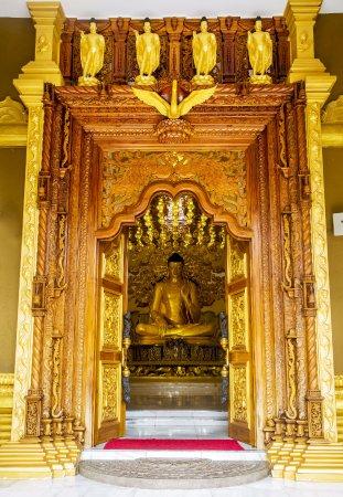 Polgahawela, Sri Lanka: Entrance of Siri Gautama Sambuddharaja Maligawa