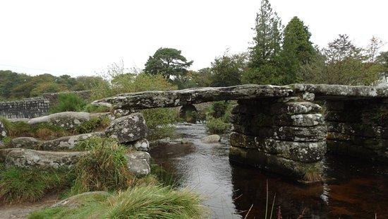 Tavistock, UK: The old clapper bridge at Postbridge