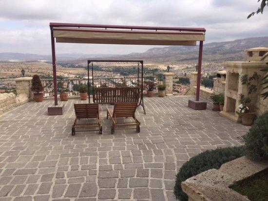 Kayakapi Premium Caves - Cappadocia: view from our private terrace