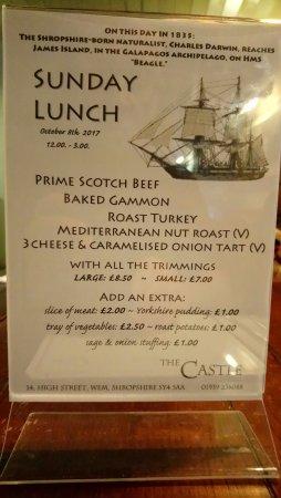 Wem, UK: Sunday lunch