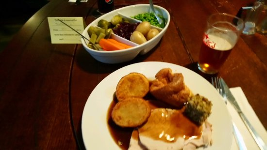 Wem, UK: Turkey lunch