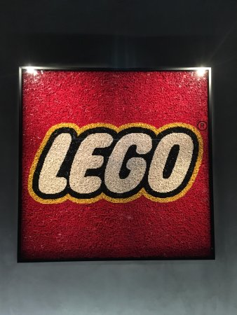 Lego logo made of lego elements - Picture of LEGO House, Billund ...