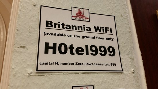 The Grand Hotel - Llandudno: WiFi available