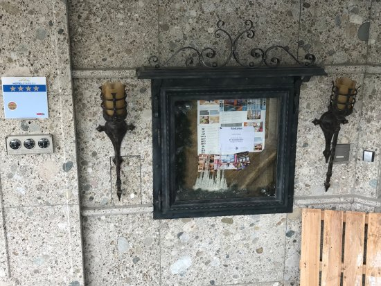 Solden, Avusturya: Hinweistafel Hotelanlage