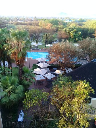 Peermont Walmont at The Grand Palm: Level 4 and up pool facing rooms probably offer the best views and are safer from monkey-thieves