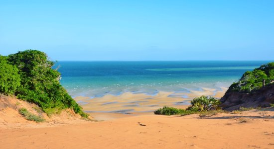 Vilanculos, Mocambique: The red dune view on the ocean