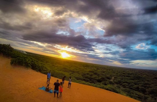 Vilanculos, Mocambique: Sunset on the red dunes sightseeing